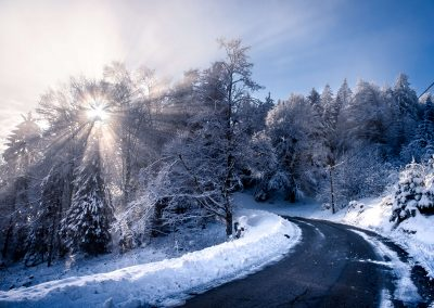 French Alps in winter