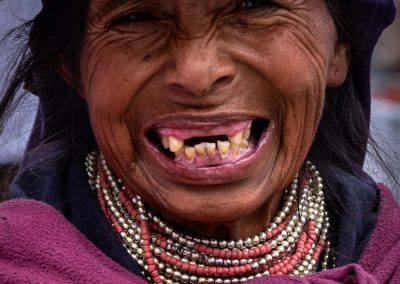 Otavalo woman smiling