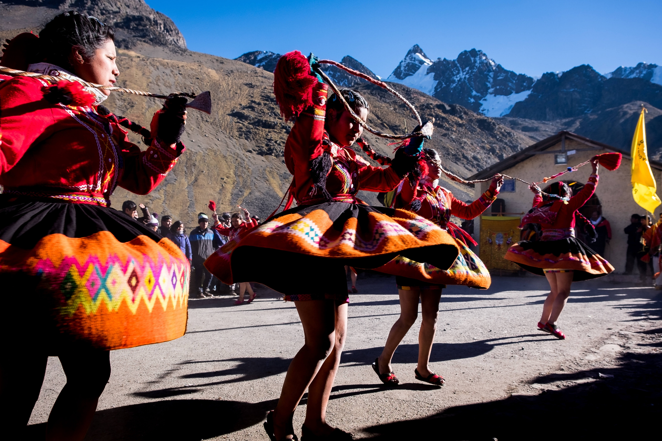 Qoylluriti traditional dance, Ausangate region, sacred mountain