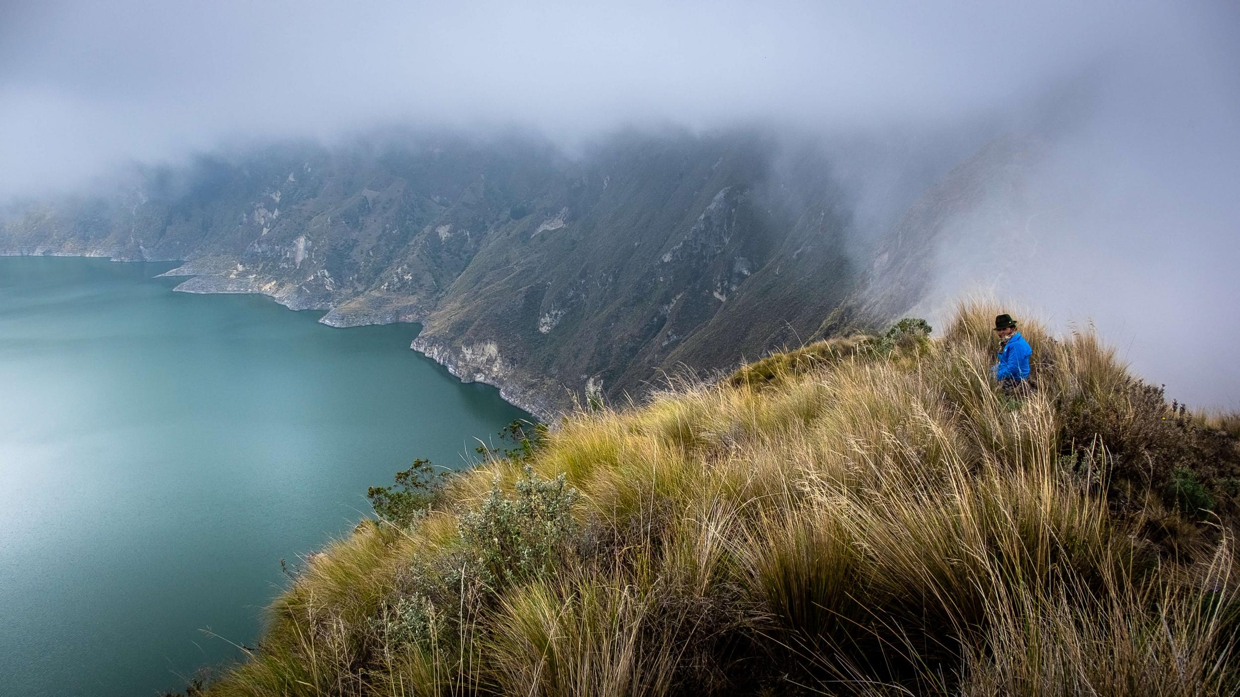Trekking to Quilotoa lagoon, Ecuador