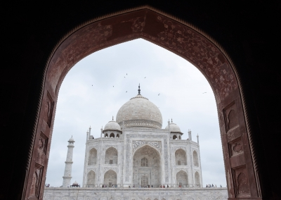 Taj Mahal from the door