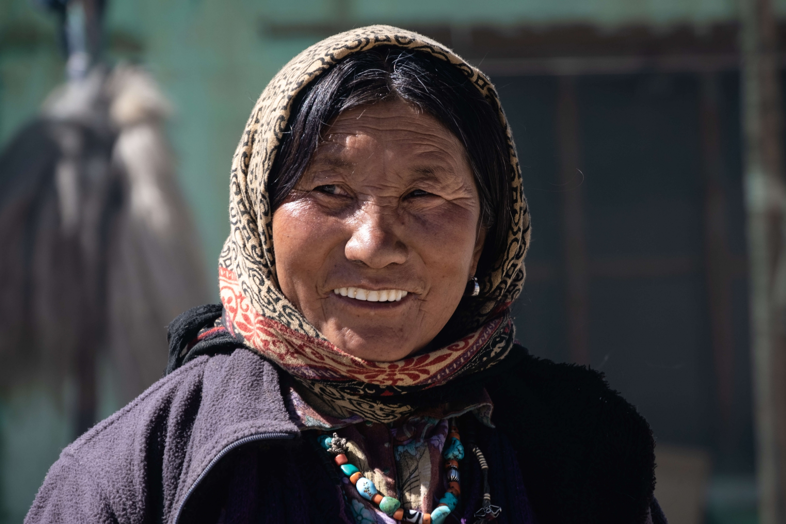 Portrait Tibetan woman