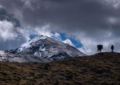 Climbing Jarihuanaco Pass