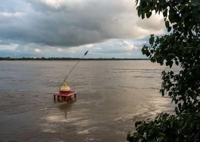 Flooded ghats - Varanasi